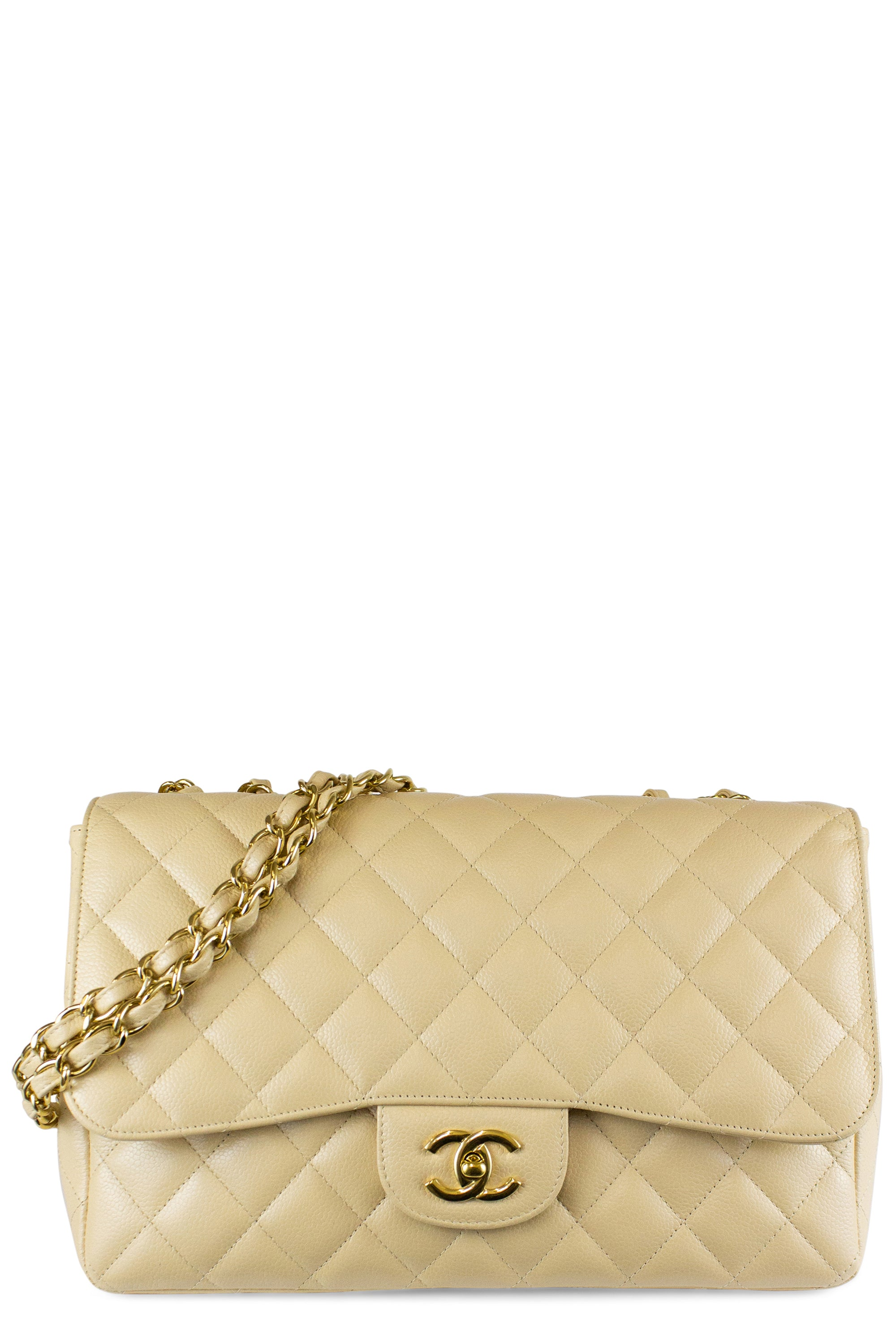 Chanel Jumbo Caviar Leather One Flap Bag