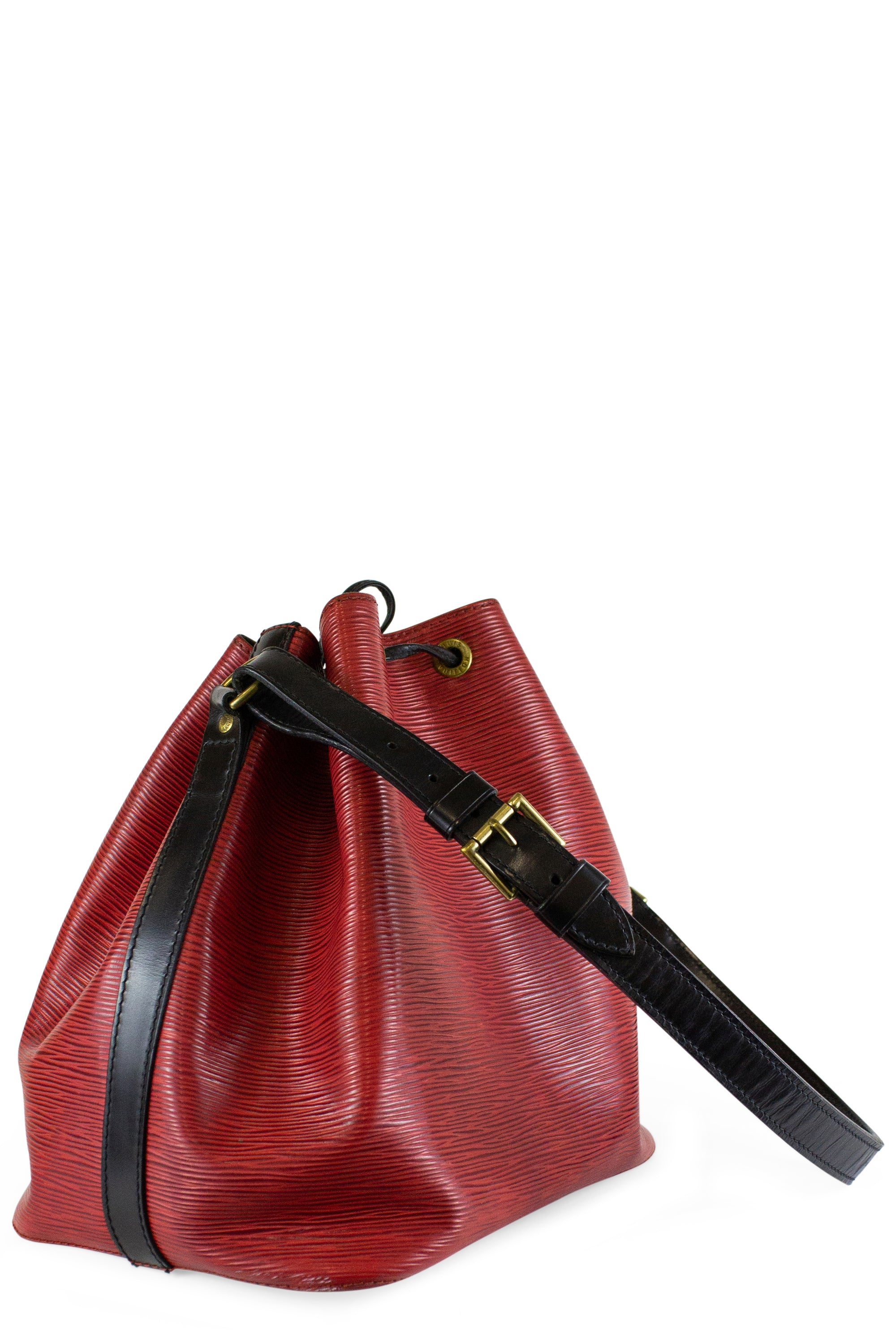 Louis Vuitton Petit Sac Noé Red Black