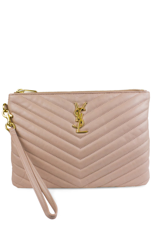 Saint Laurent Clutch Monogram Rosa Nude