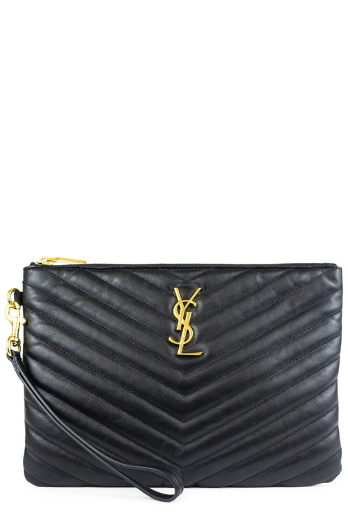 Saint Laurent Clutch Monogram Black