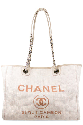 10971acd47da8 CHANEL Deauville Canvas Tote Small. CHF 1