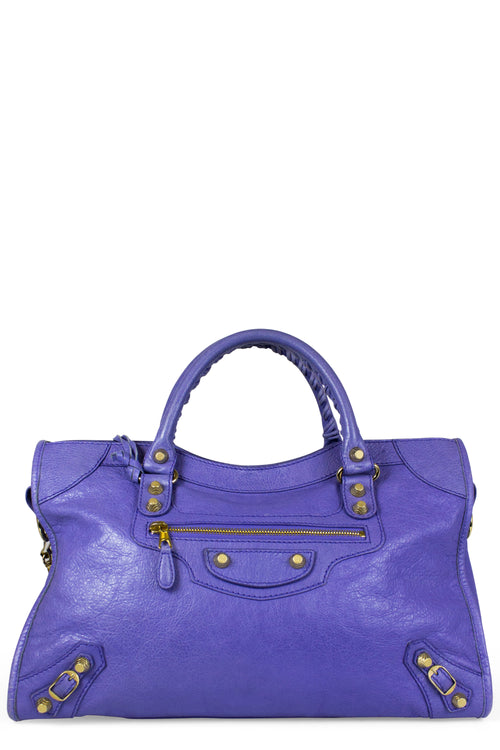 Balenciaga Agneau Giant 21 Rose Gold City Bleu Lavande