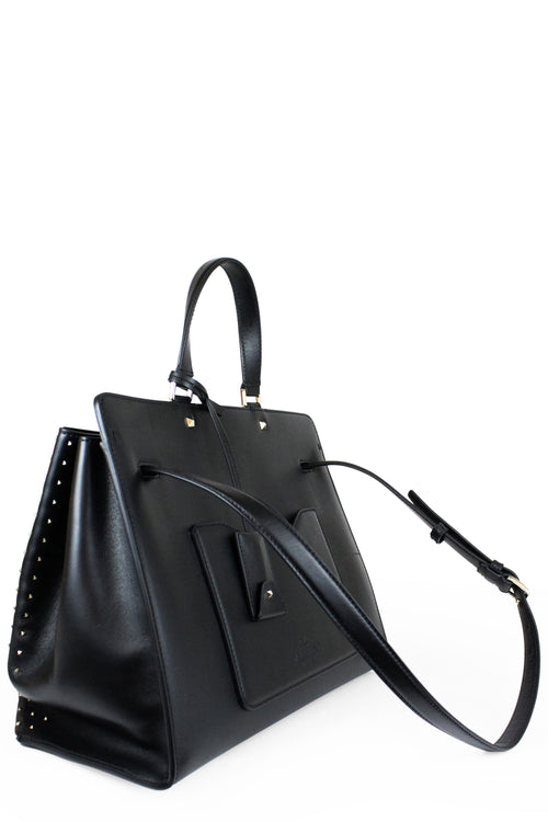 Valentino Joy Lock Rockstud Vitello Handbag