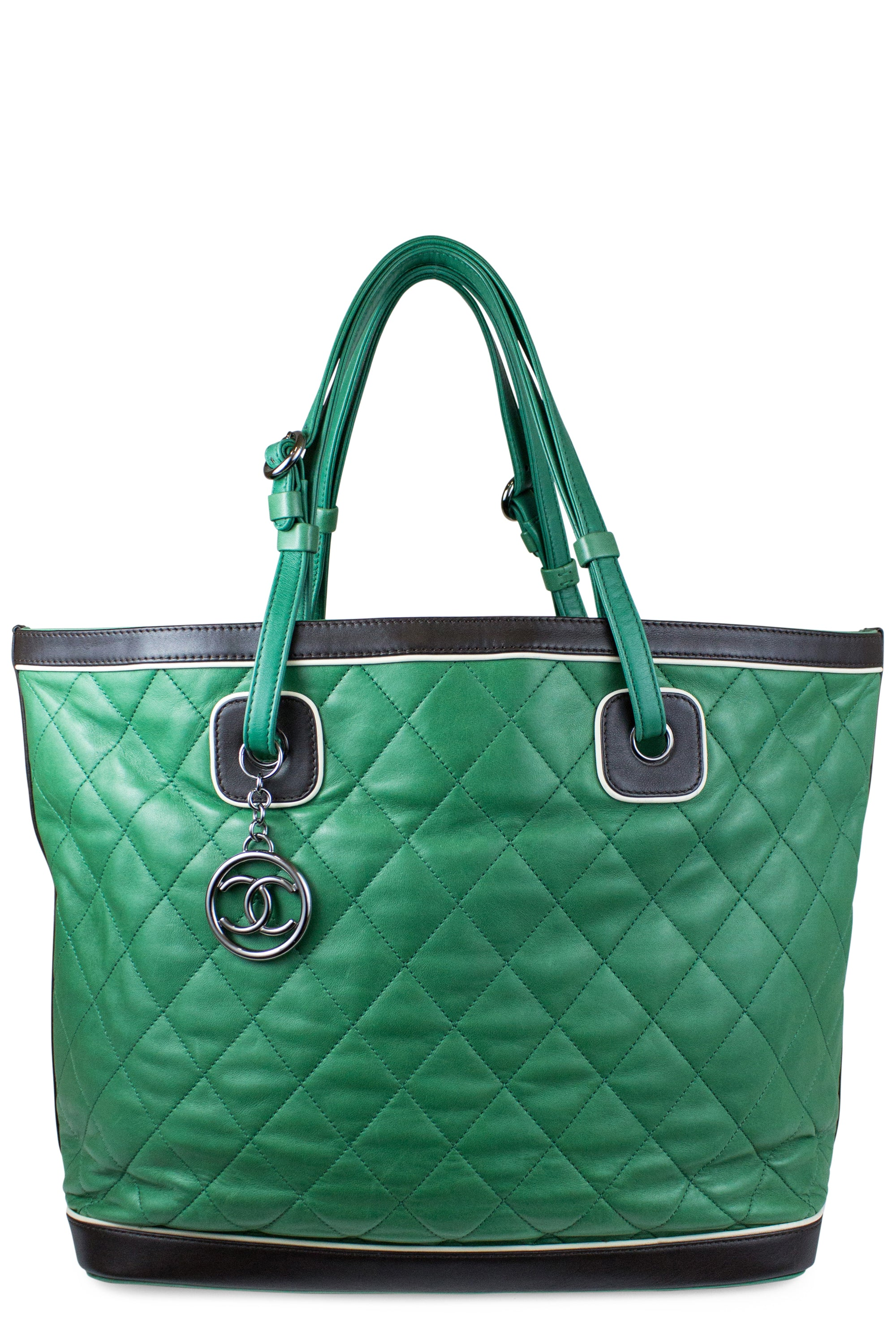 Chanel Kelly Green Leather Tote