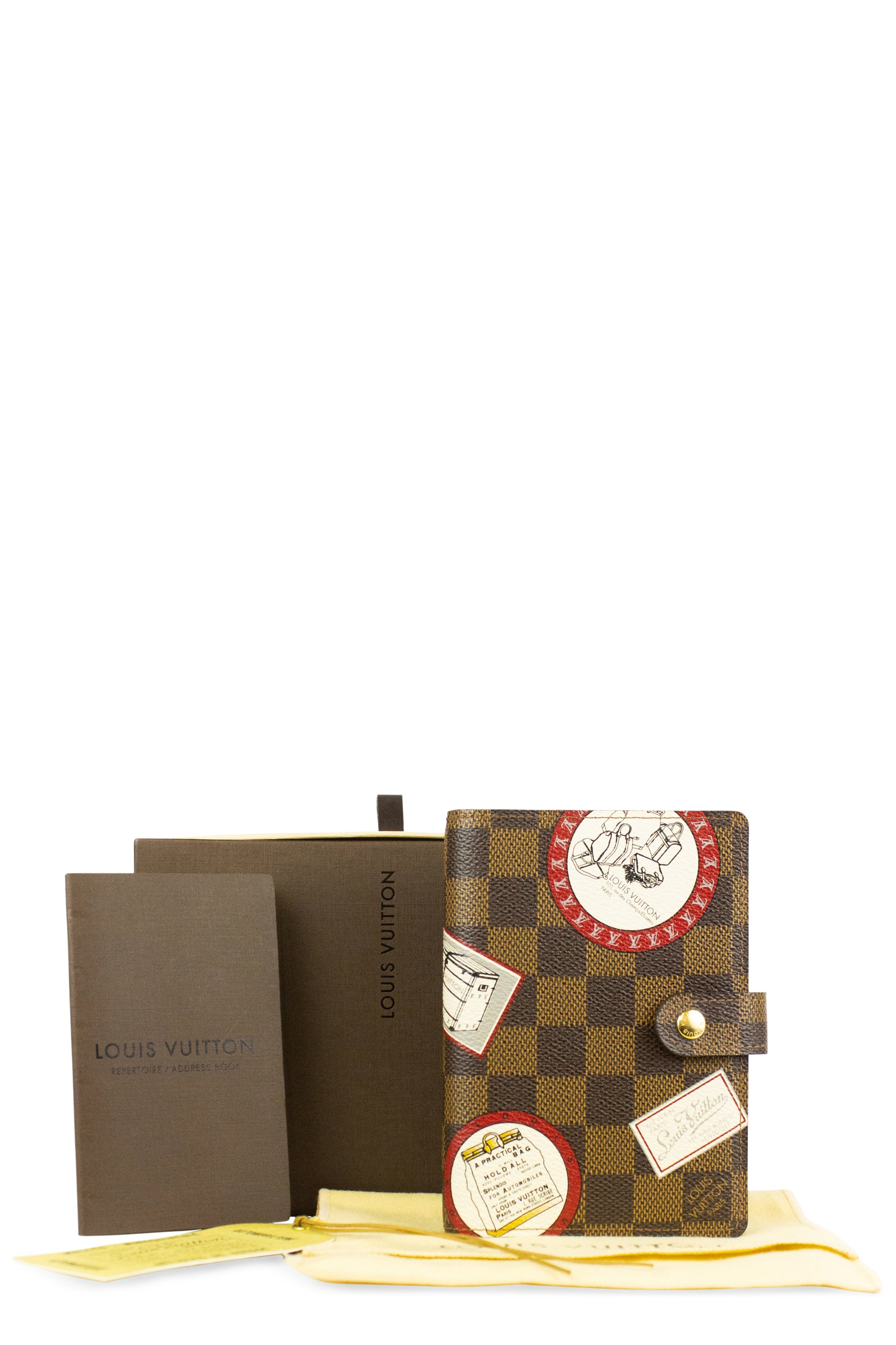 Louis Vuitton Damier Ebene Agenda Article de Voyage Full Set