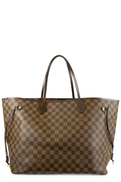 Louis Vuitton Neverfull Damier Ebene GM Front Tote