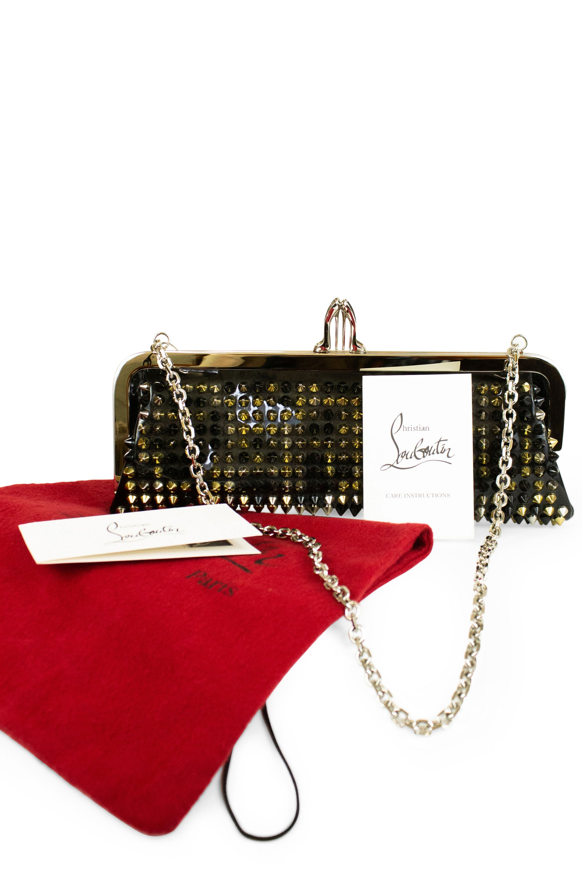 CHRISTIAN LOUBOUTIN Clutch Spikes Miss Loubi
