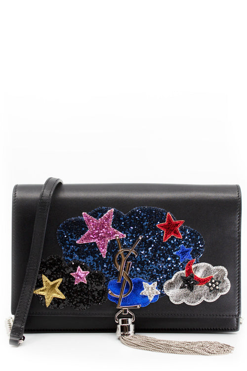 SAINT LAURENT Kate WOC with Multicolor Patchwork Frontalansicht