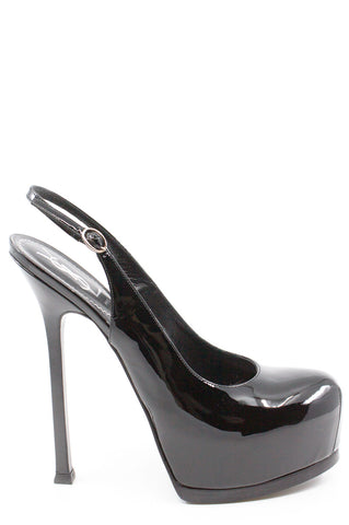 CHANEL Sling Back Black