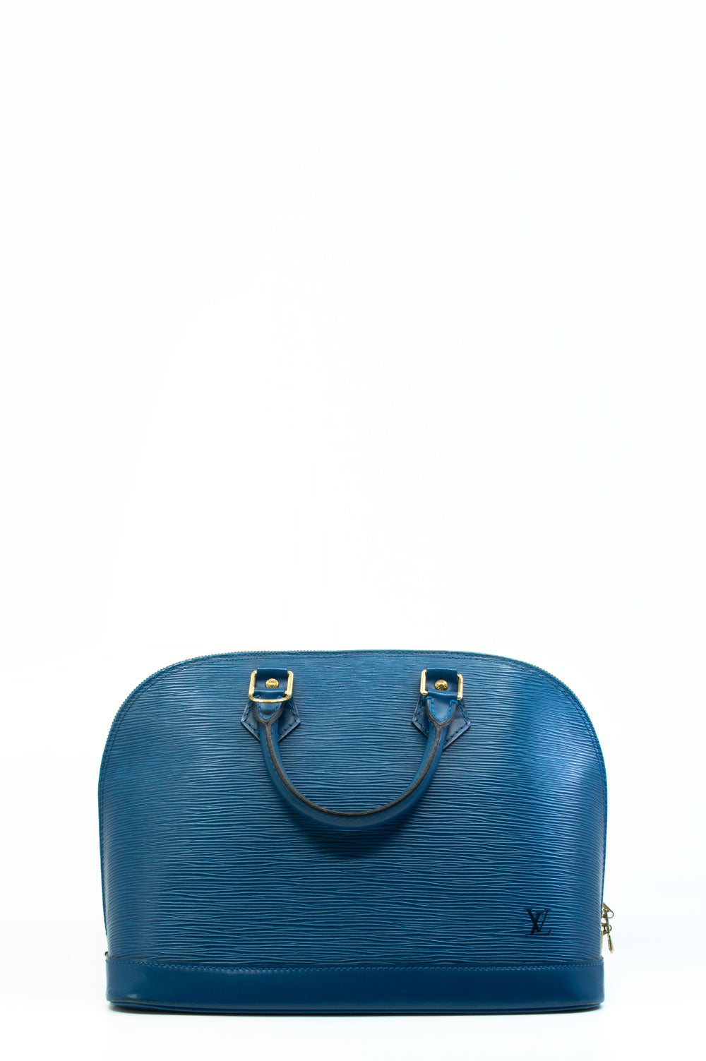 Louis Vuitton Alma PM Tasche in blauen Epi-Leder.