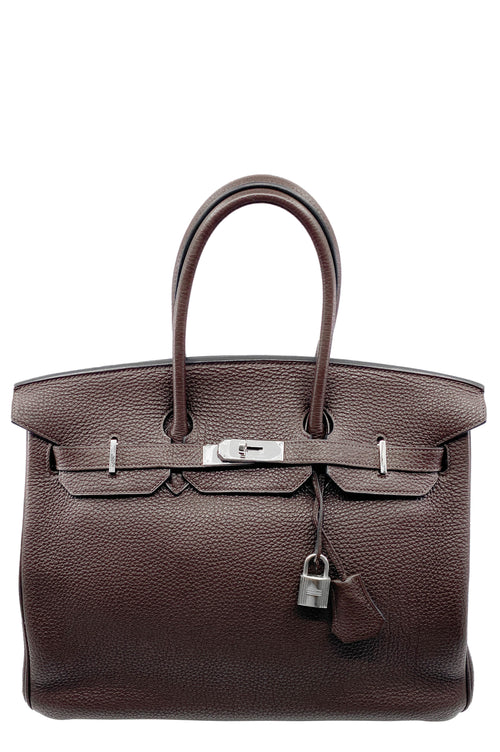 HERMÈS Birkin Bag 35 Togo Chocolate
