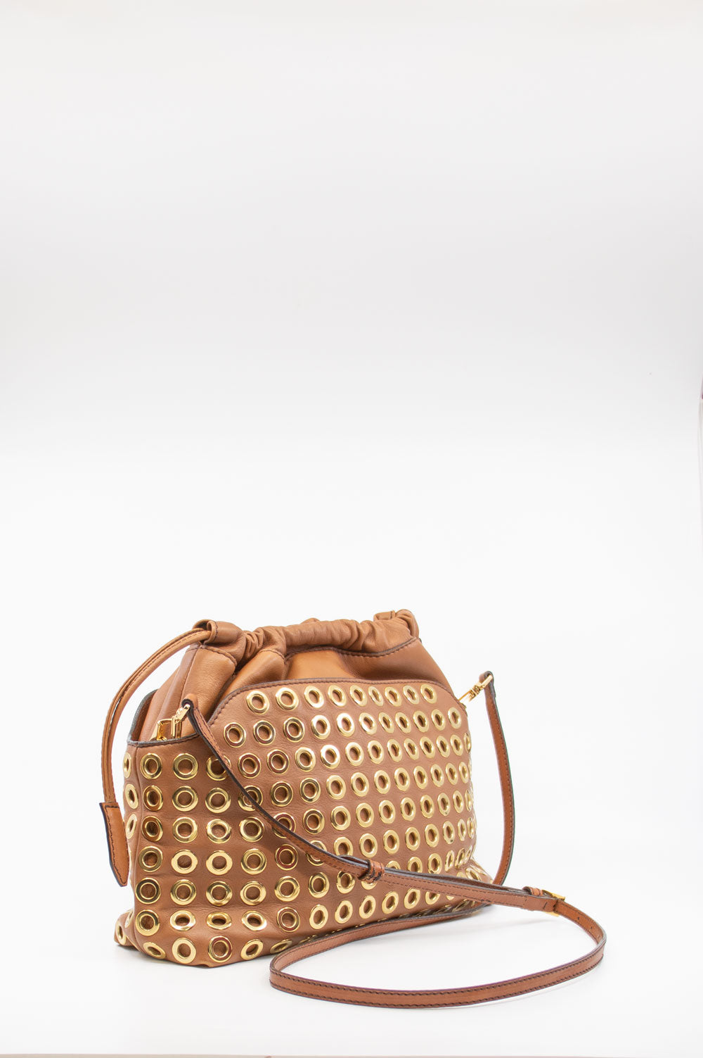 BURBERRY PRORSUM The Crush Bag Cognac