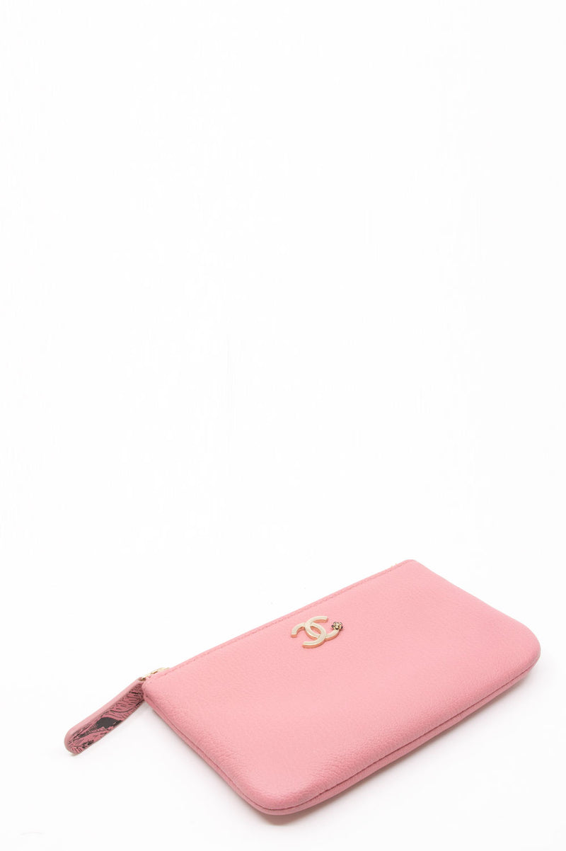 Chanel Mini Zip Pouch in Pink.