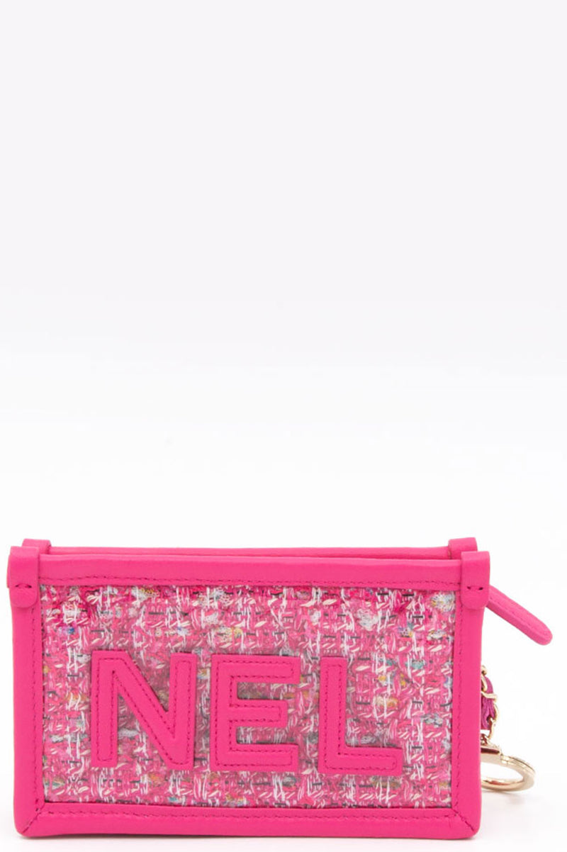 CHANEL Tweed and PVC Pouch