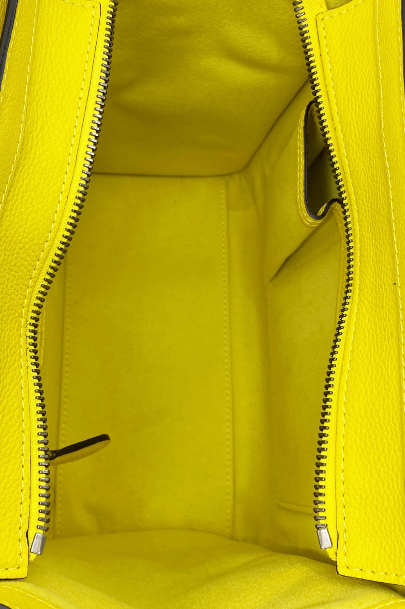 CÉLINE Mini Luggage Yellow