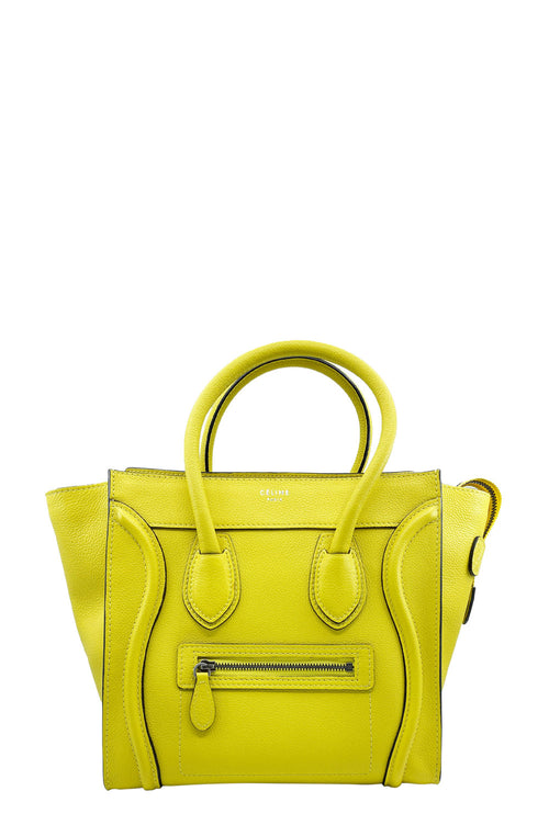 CÉLINE Mini Luggage Yellow Frontansicht