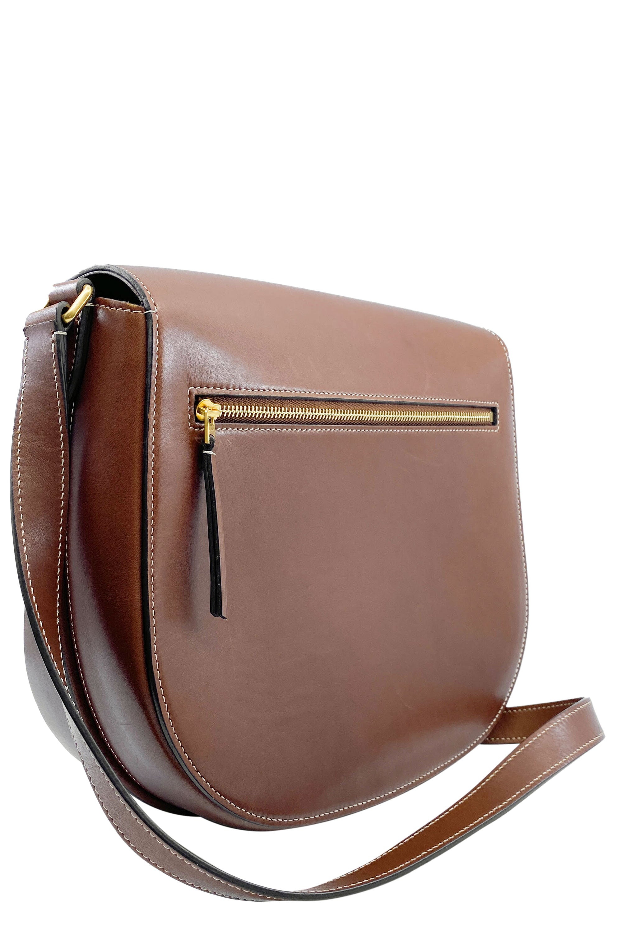 CÉLINE Trotteur Medium Satchel Brown