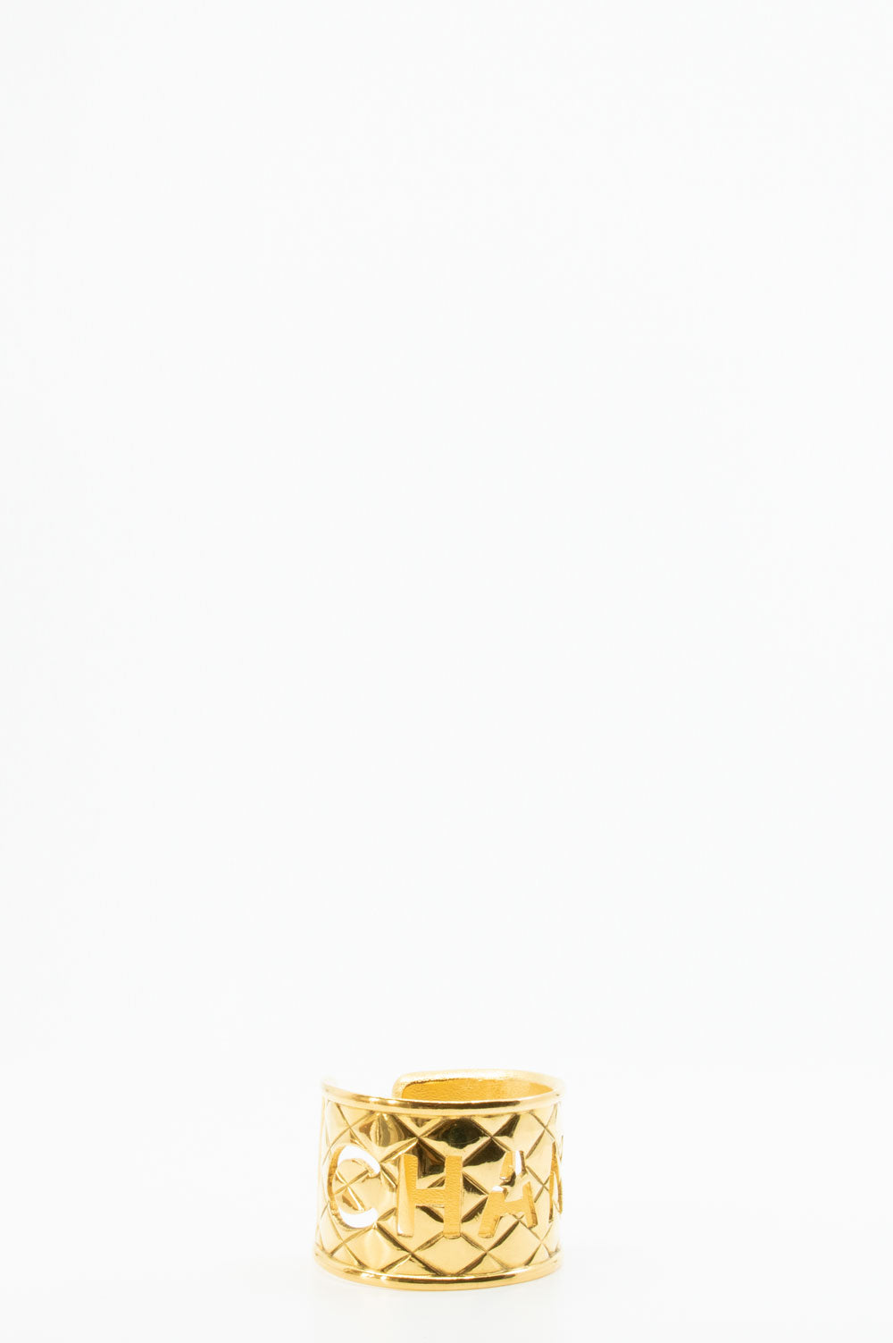 Chanel Vintage Cuff in gold.