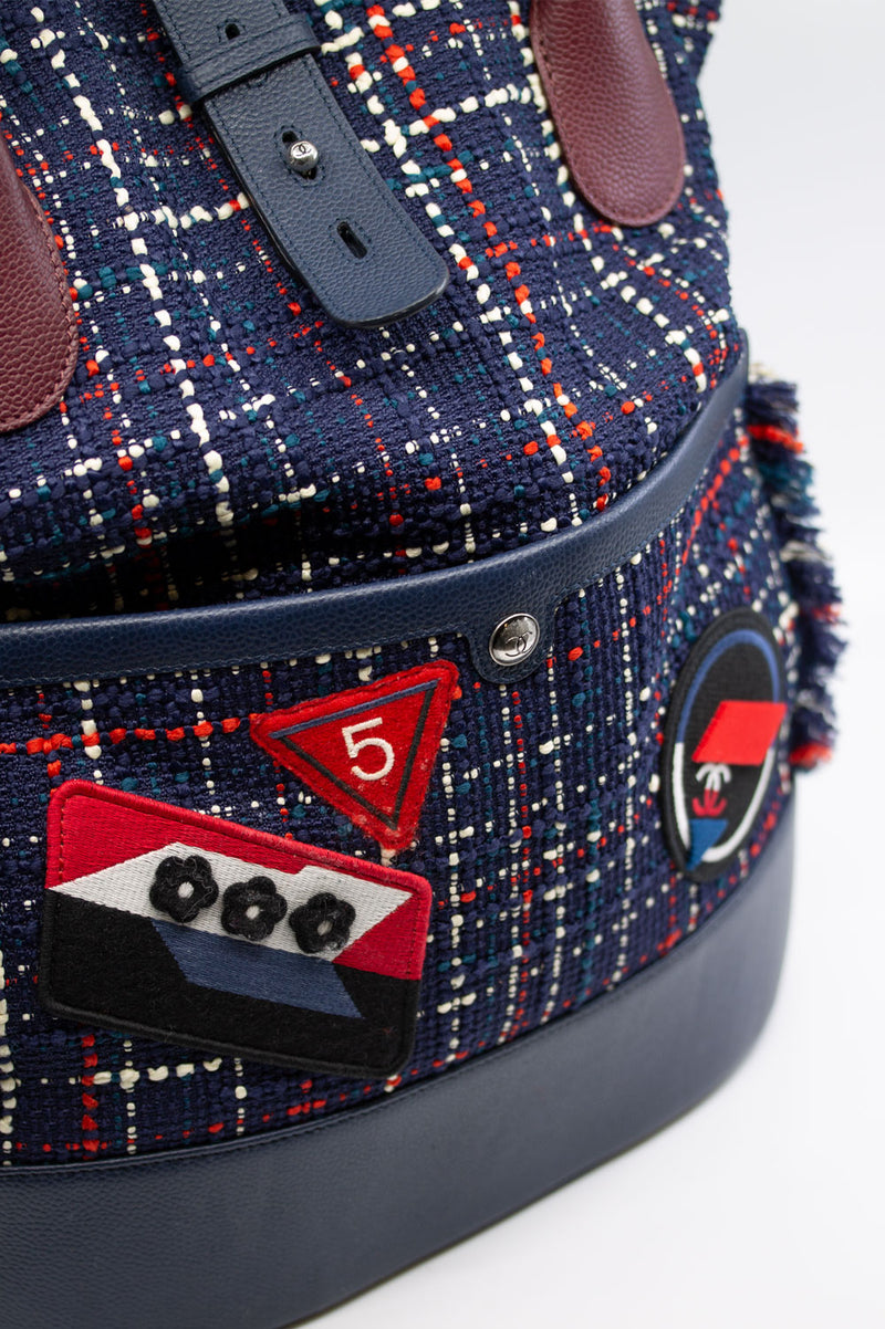CHANEL Backpack Tweed Chanel Airlines Collection