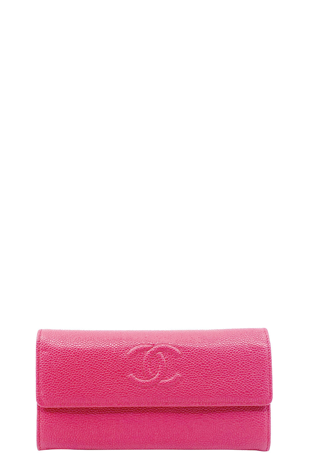 CHANEL CC Continental Wallet Caviar Leather
