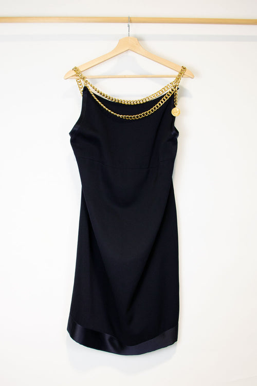 CHANEL Dress Fringes Gold