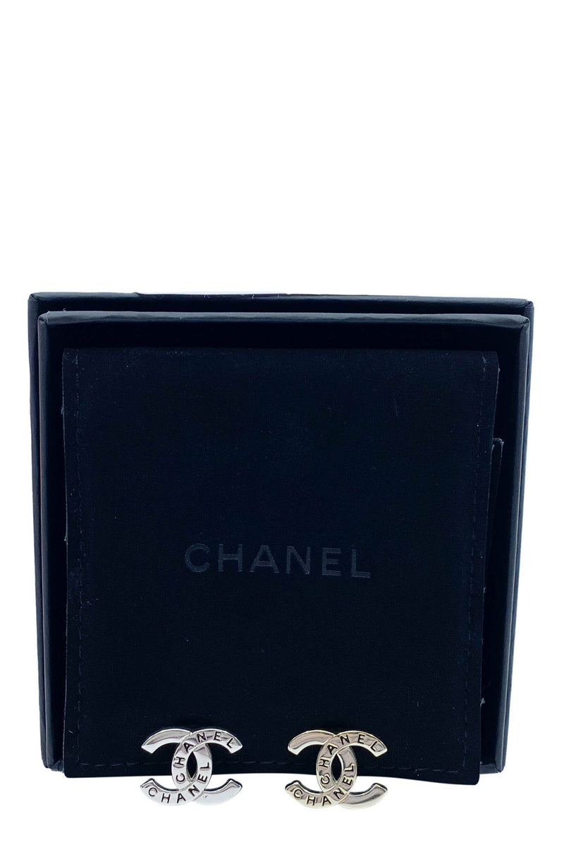 CHANEL Clips Silver CC with Logo 1998