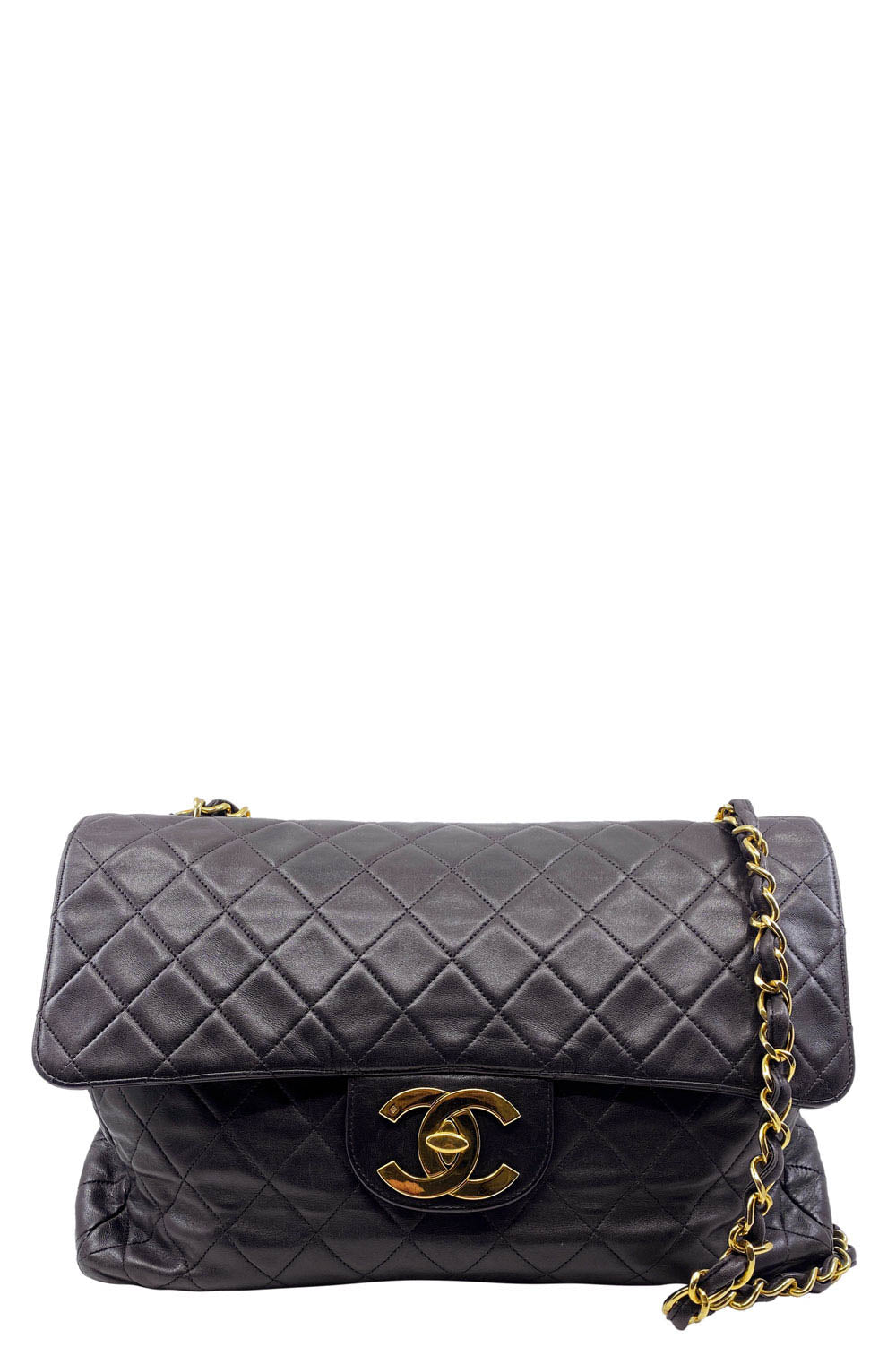 CHANEL Vintage Flap Bag Maxi Jumbo