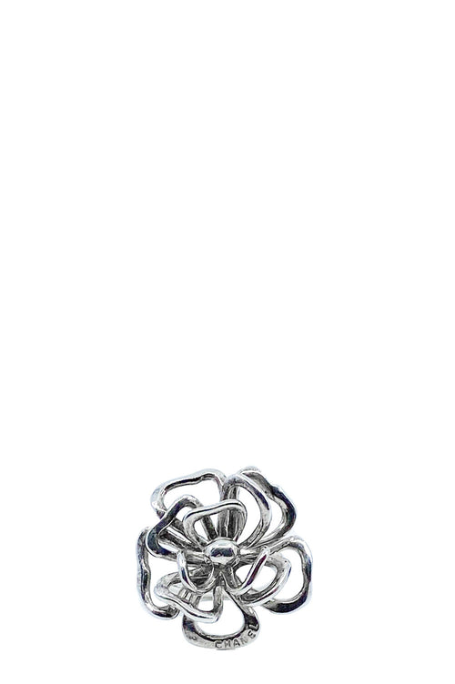 CHANEL Ring Camelia Ring 925 Silver