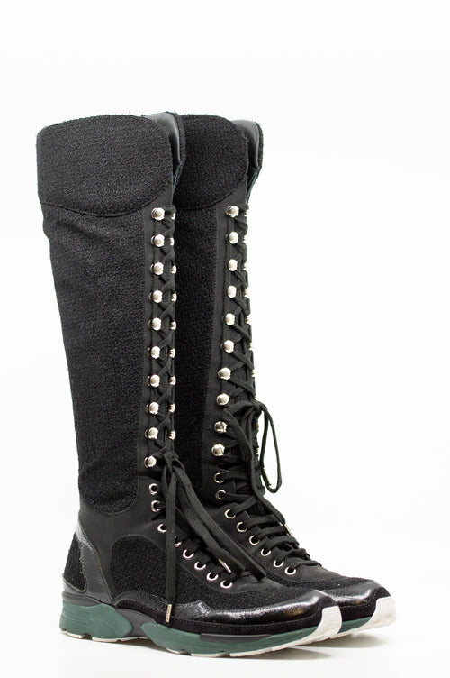 CHANEL Sneaker Boots