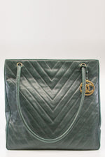 CHANEL Vintage Chevron Shopper