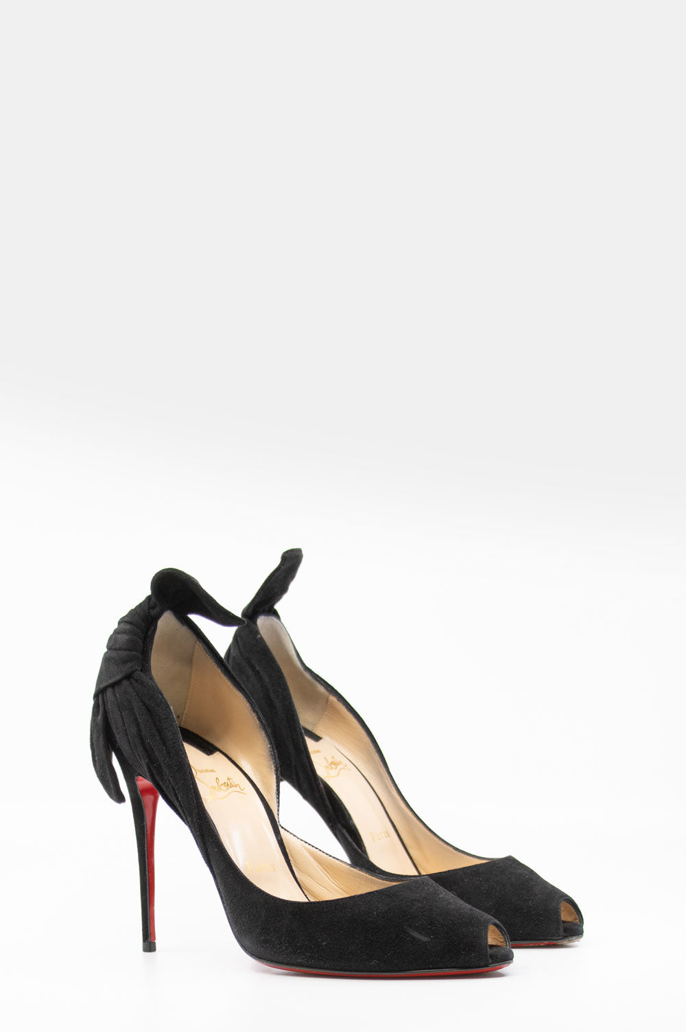 CHRISTIAN LOUBOUTIN Barbara 100 Peeptoes