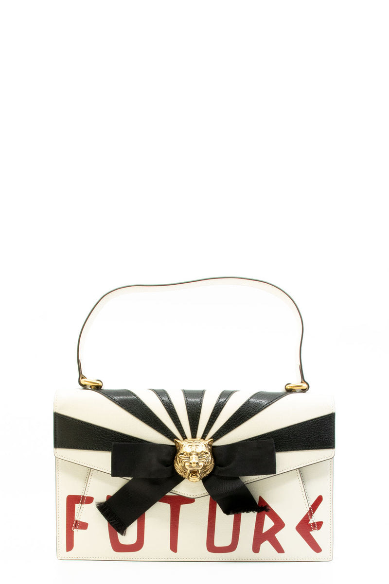 Gucci Top Handle Osiride Future Bag in Off-White.