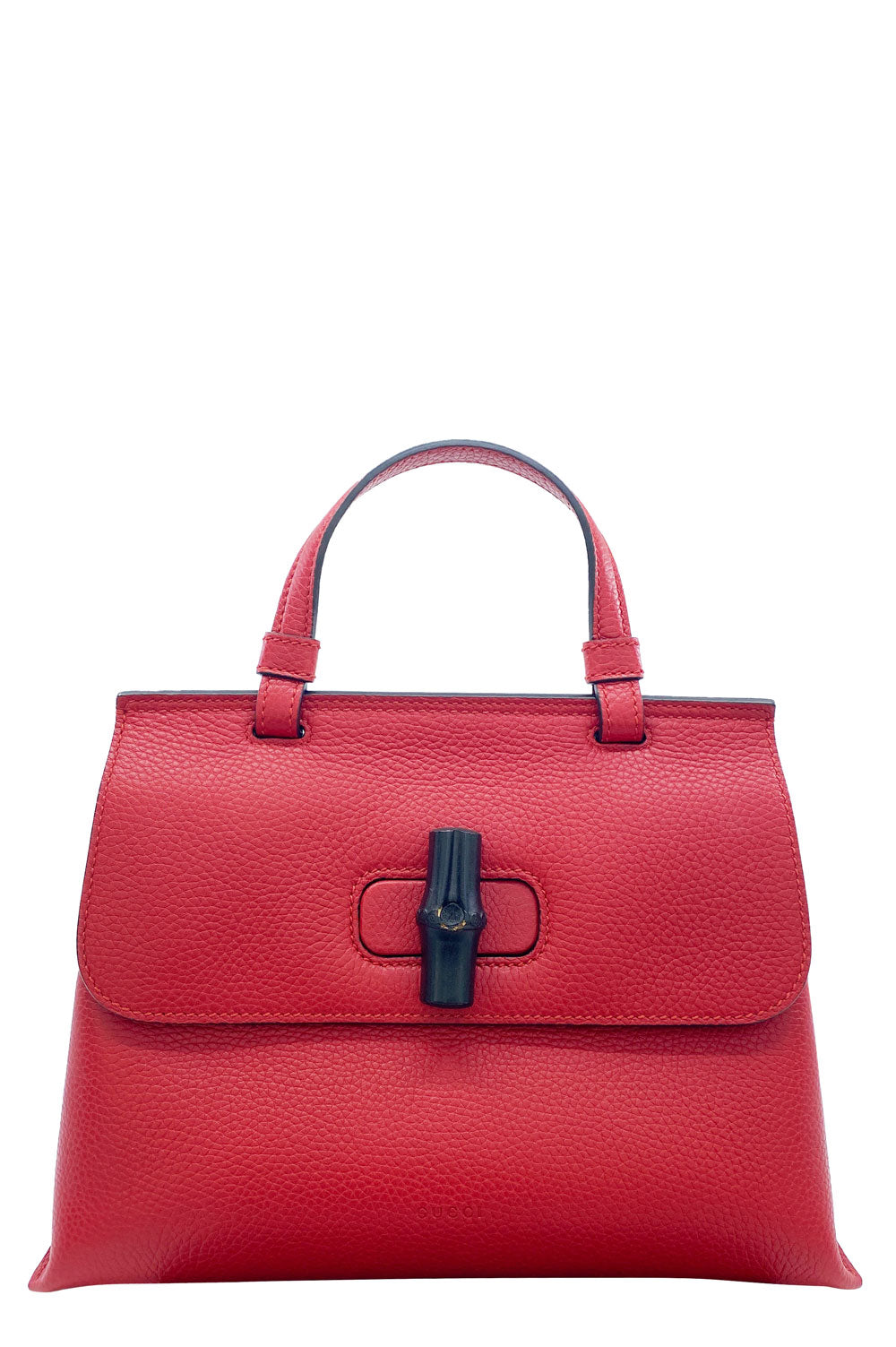 GUCCI Small Bamboo Daily Top Handle Bag Red Frontansicht