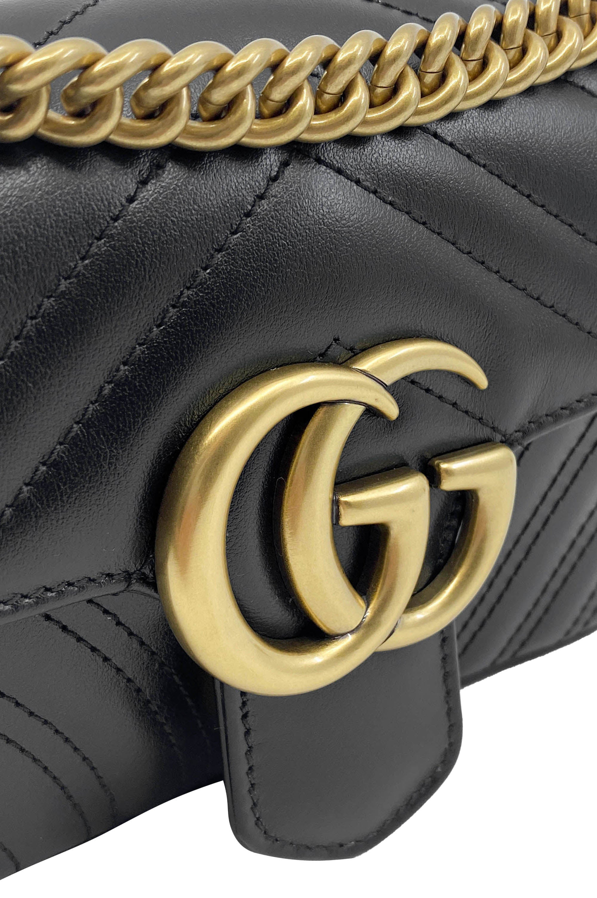 GUCCI GG Marmont Matelassé Mini Bag Black
