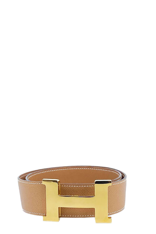 HERMÈS Belt H Constance 42mm Gold Beige