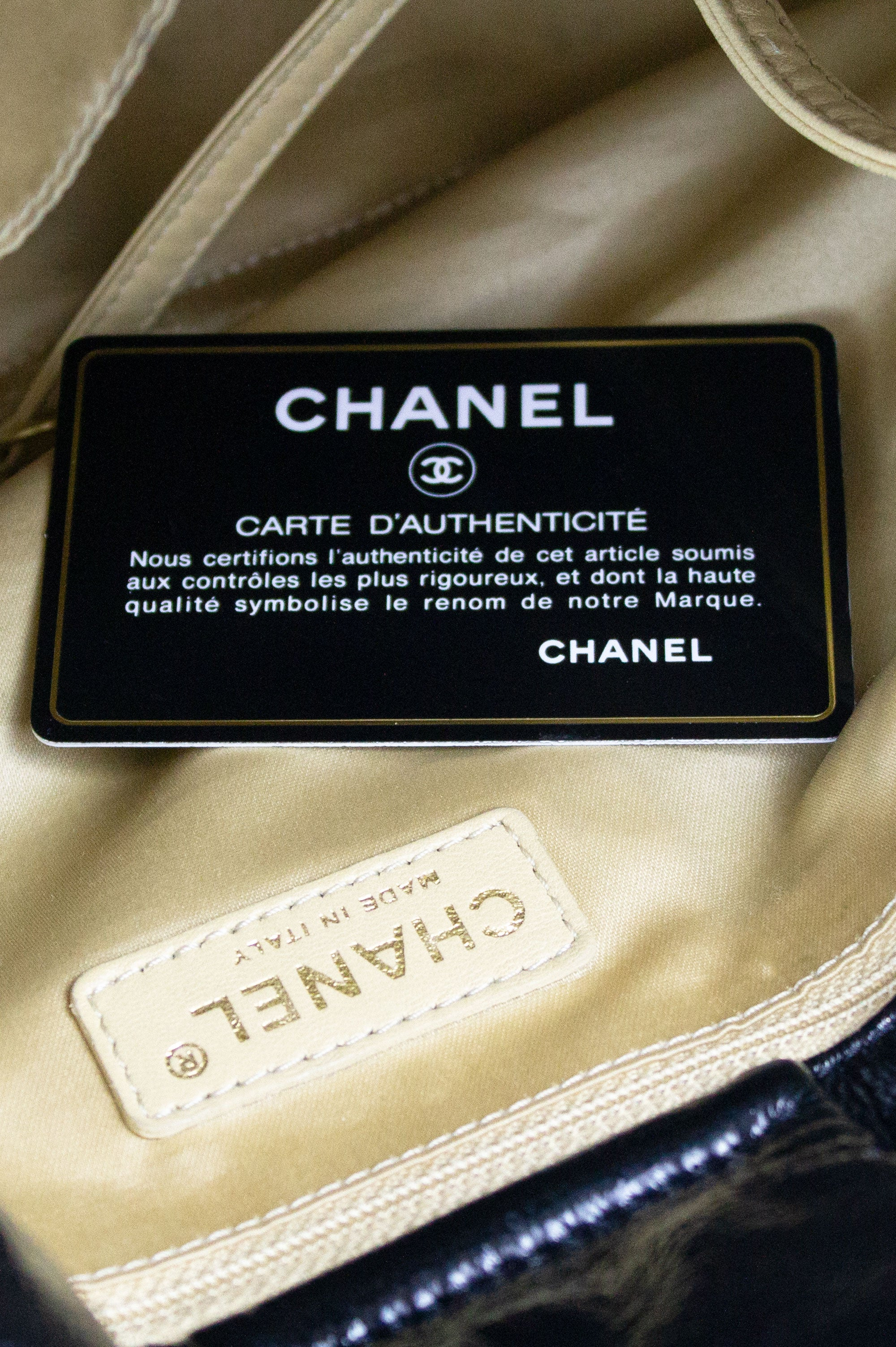 CHANEL Patent Leather Soft Bag