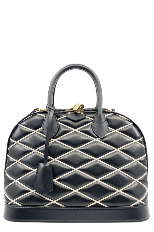 LOUIS VUITTON Alma Diamond Malletage Bag Limited Edition