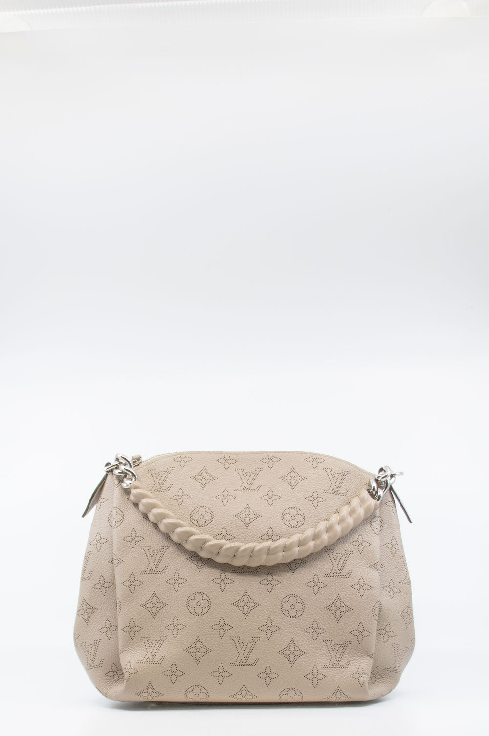 LOUIS VUITTON Babylone BB Bag Mahina Leather Taupe