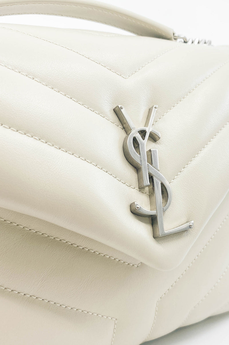 SAINT LAURENT Loulou Vintage White