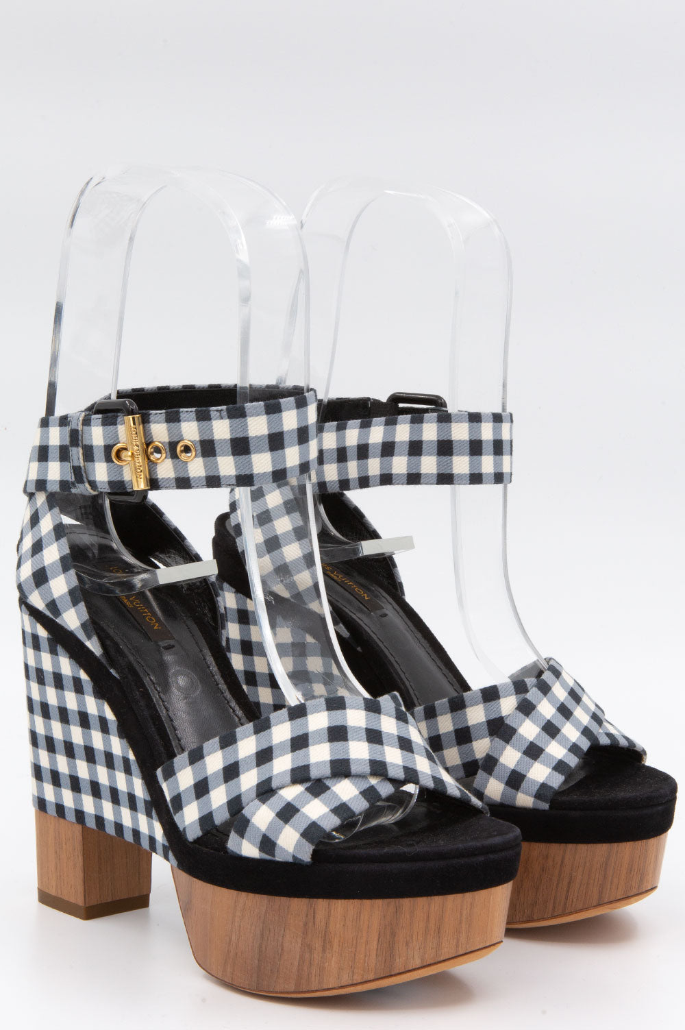 LOUIS VUITTON Gingham Platforms