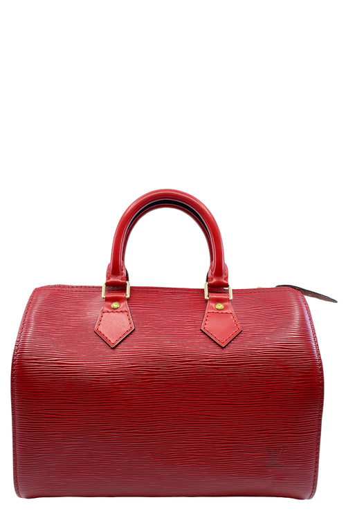 LOUIS VUITTON Speedy 35 Epi Red