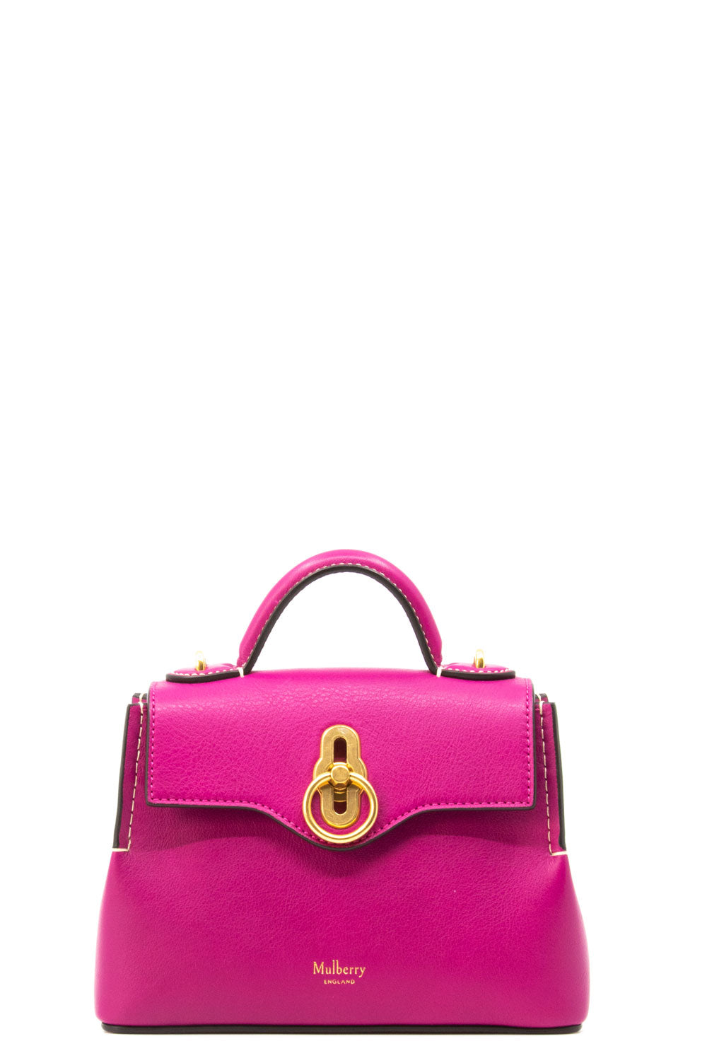 Mulberry Micro Seaton Tasche in Fuchsia.