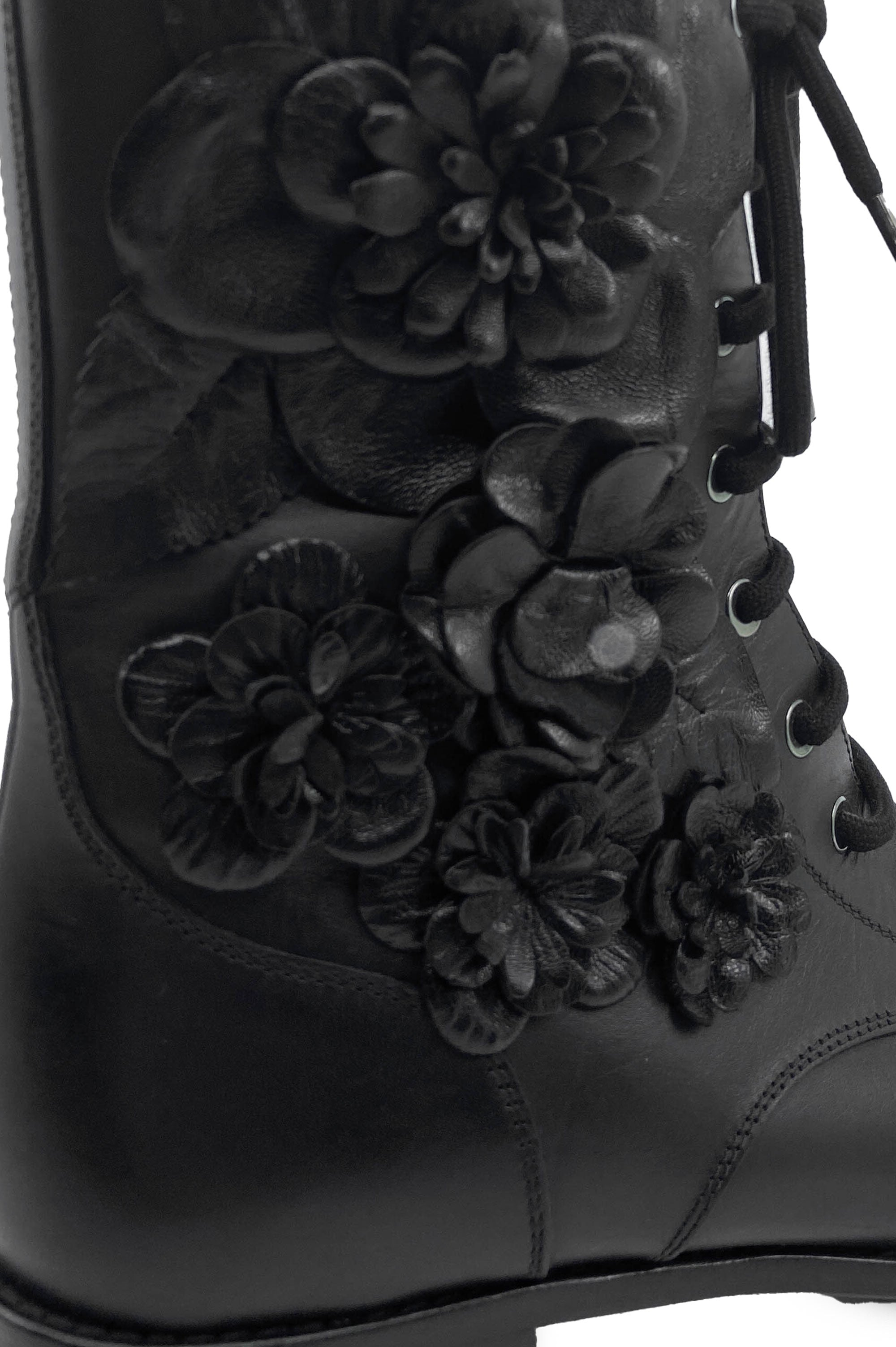 VALENTINO Boots Black Flowers