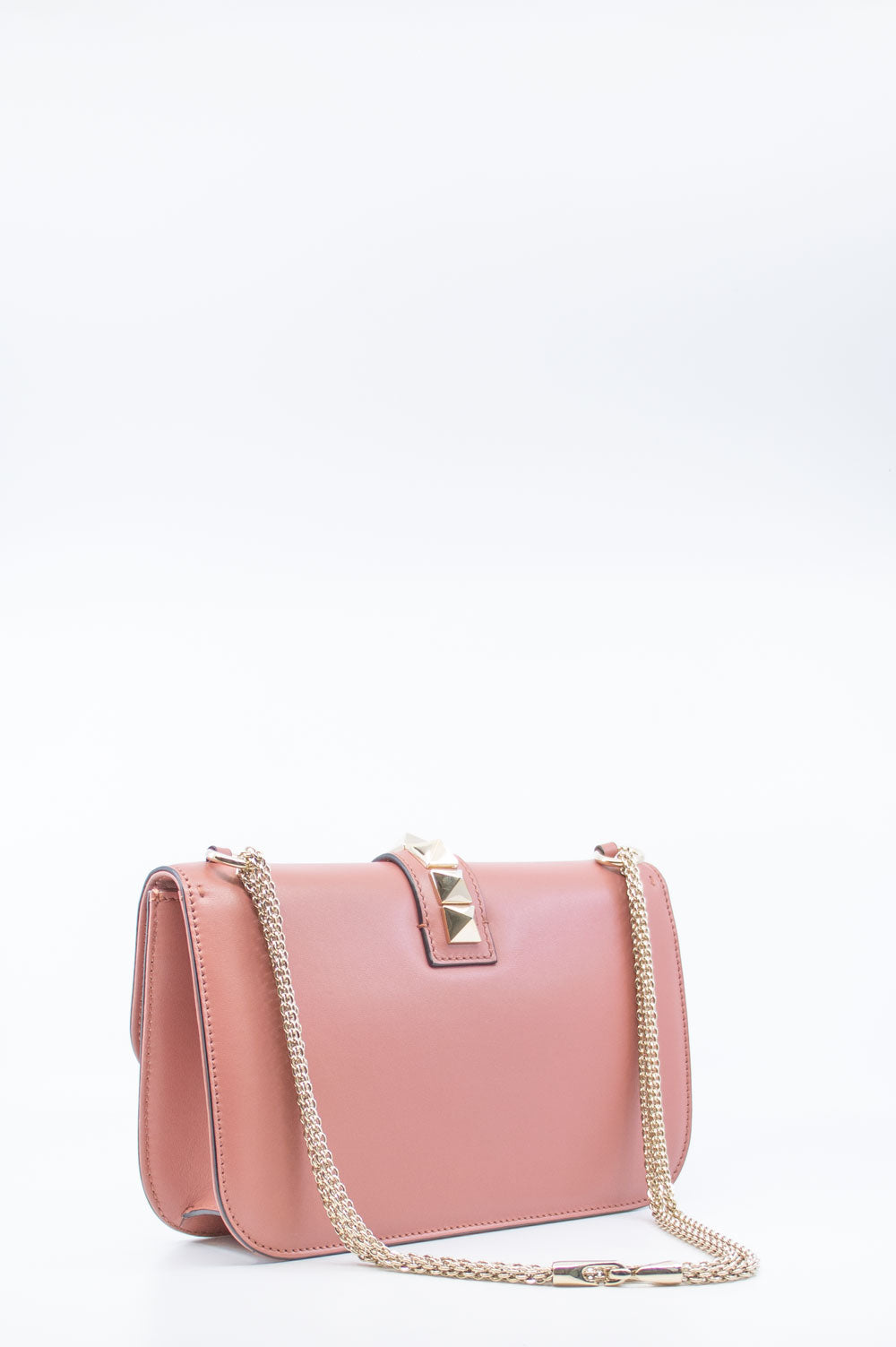 VALENTINO Rockstud Lock Bag Pink Leather
