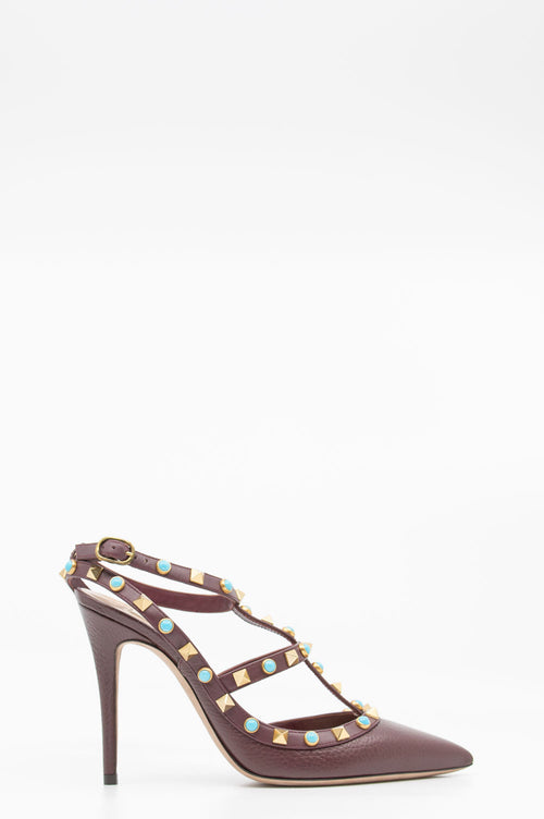 VALENTINO Rockstud Pumps with Ankle Strap