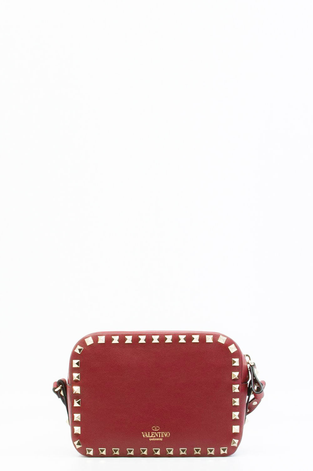 Valentino Rockstud Crossbody Bag in weinrot.