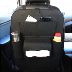 Back Seat Multi-Pocket Storage - Versatile Felt Container Bag with Insulation Boot Organizer Car Covers for Back Seat