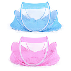 Happy Baby 4pc Portable Folding Crib Set with Sealed Mosquito Net