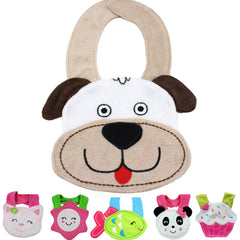 Happy Baby Bandana Bib Collection - Soft Cotton Towel Material with 3D Character -- Want (1) for FREE?  Use Checkout Code: FREEBABYBIB