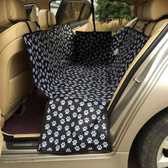 "Back Seat ""Paws Print"" Pet Carrier/Mat - Safety Waterproof Dog Car Mats Footprint Protector Auto Back Seat Cover Pet Dog Cat Car Hammock"